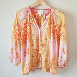 Beautiful Silk Anthropologie Blouse